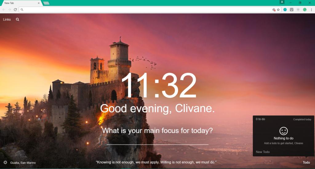 Momentum Google Chrome Extension