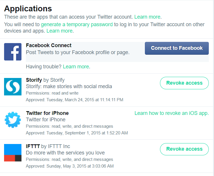 Social Media Safety Twitter Settings for Applications