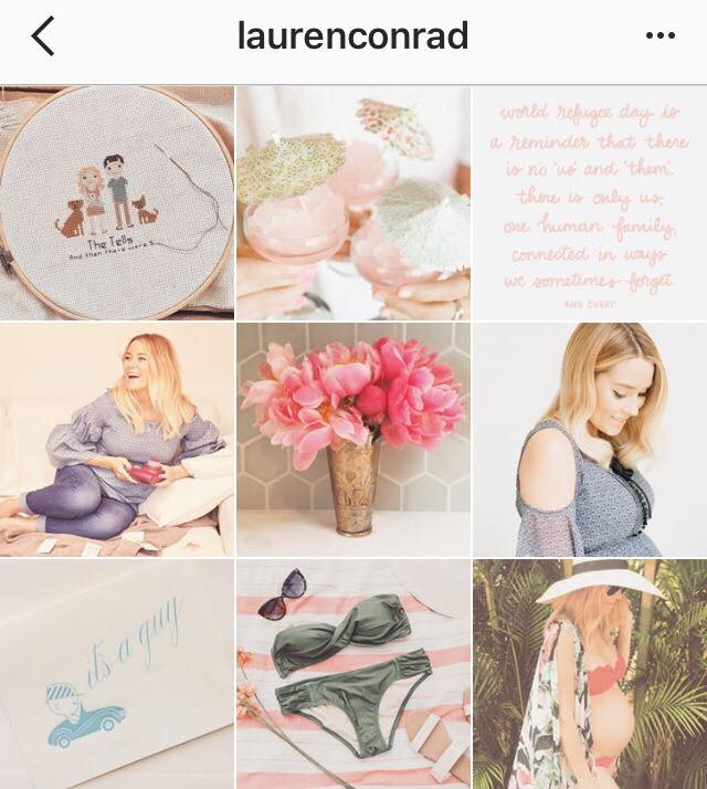 Lauren Conrad Instagram Aesthetic