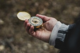 Core values as verbs can act like a compass in hand